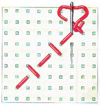 Вышивка крестиком по диагонали.