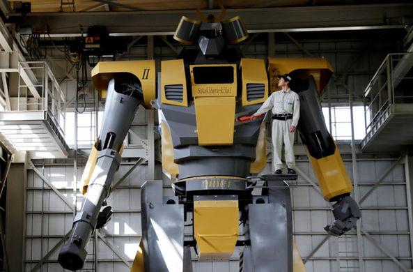 Японский инженер построил гигантского робота из мультфильма