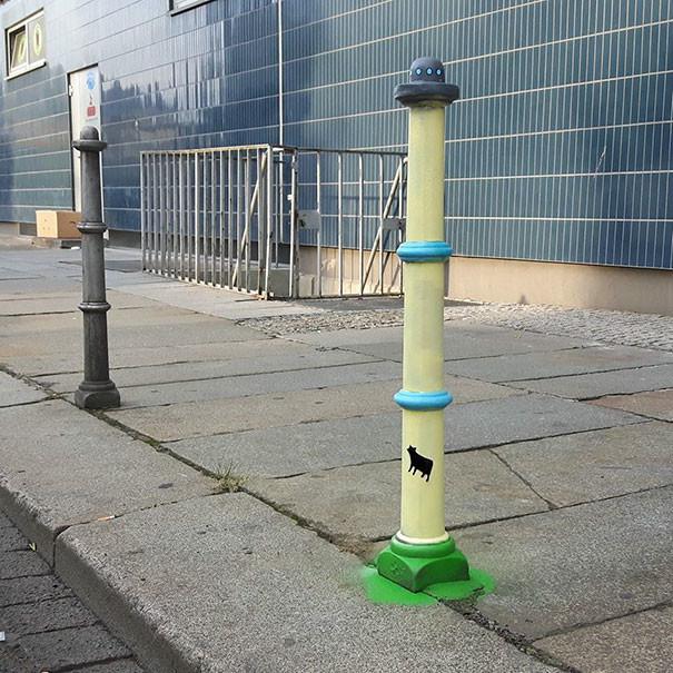 Похищение коровы в Дрездене вандализм, граффити, инсталляция, искусство, мир, творчество, улица, художник
