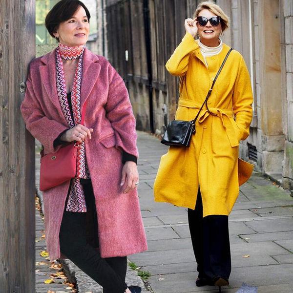 Вязаные, твидовые, букле: необычные модные пальто для женщин от 30 до 50
