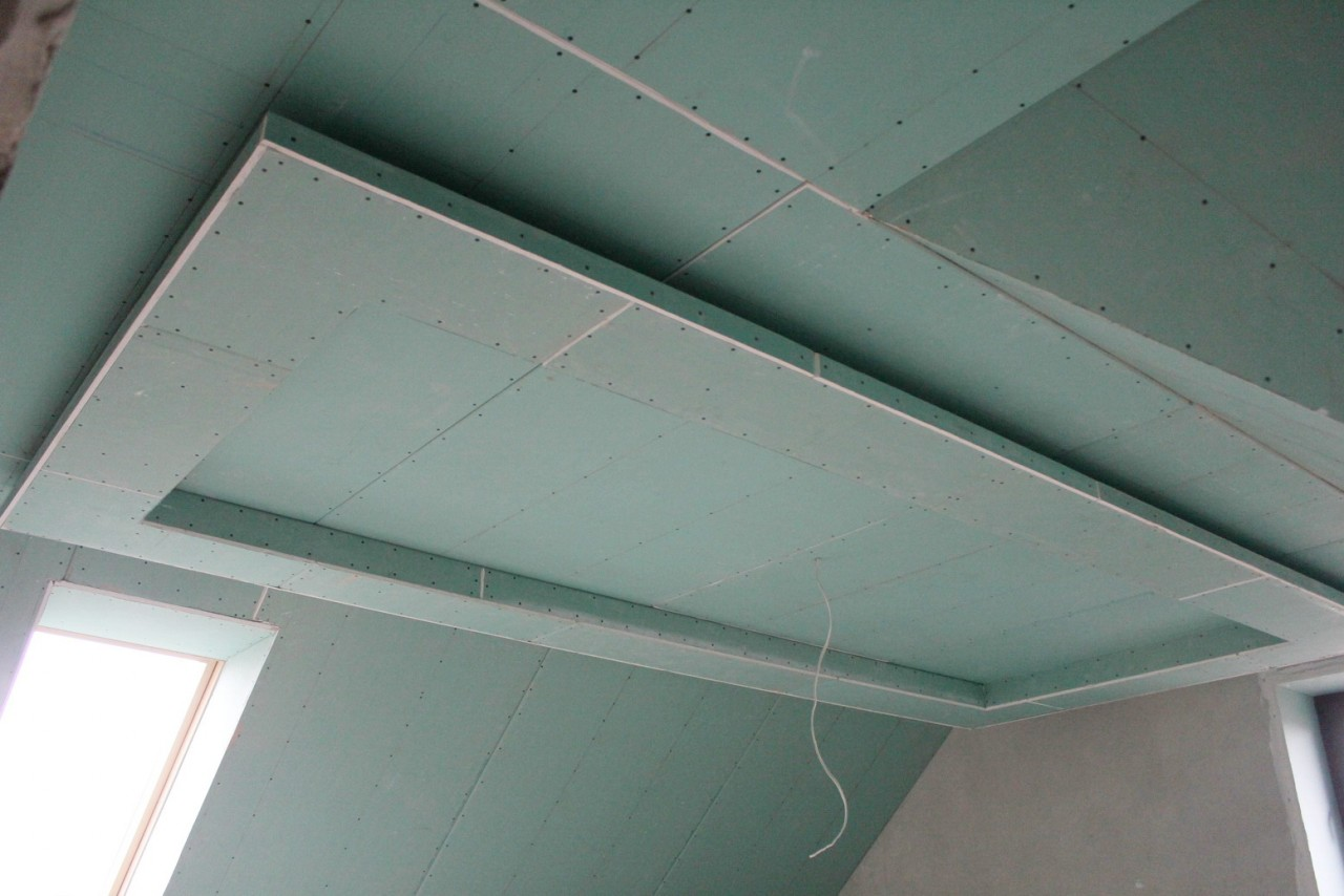 Фигурные потолки из гипсокартона своими руками видео