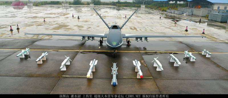 Китайские беспилотные летательные аппараты с реактивными двигателями
