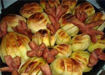 Вкусные блюда с сосисками.