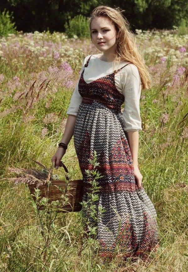 православный русский стиль в женской одежде незнакомка