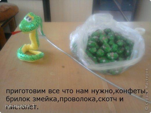 Мастер-класс Новый год Моделирование конструирование МК по конфетной кобре фото 1