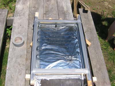 Самодельный солнечный водонагреватель