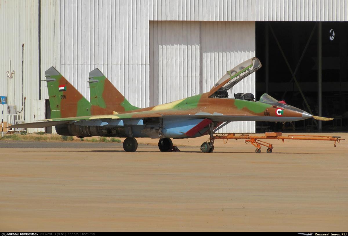 Истребители МиГ-29 ВВС Судана