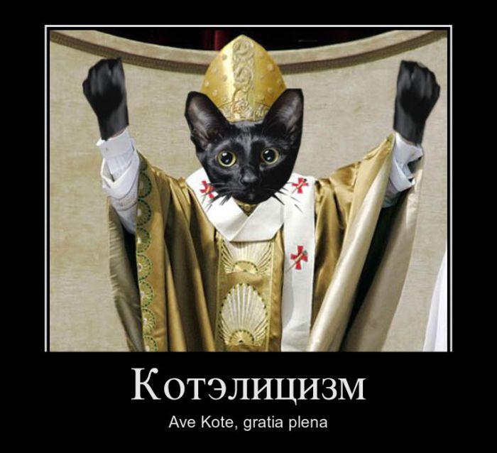 История про кота на дереве и хитроумного священника