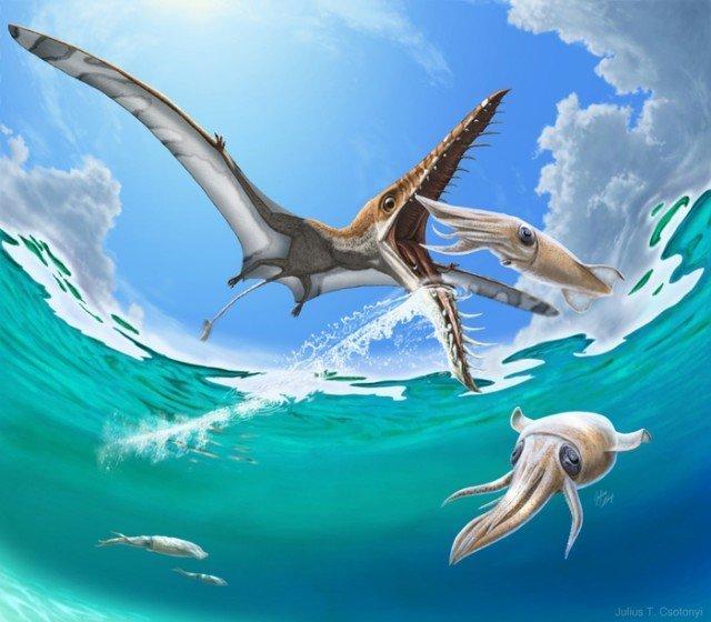 Трагедия Юрского периода. Рамфоринх охотился за рыбой, а рыба охотилась на него