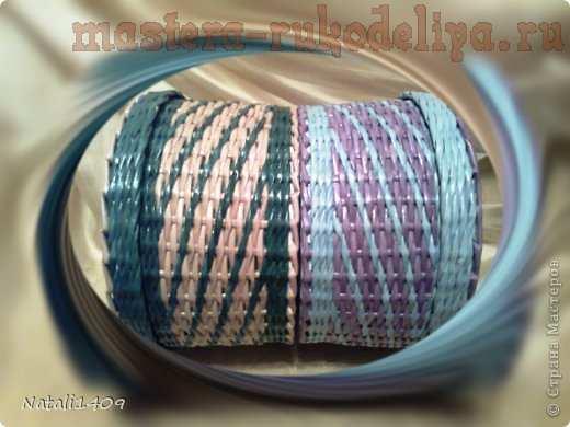 Мастер-класс по плетению из газет: Два узора в одном