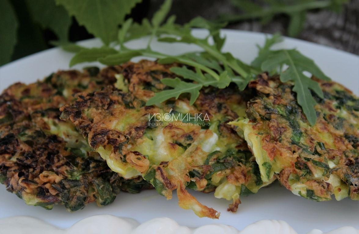 Как готовить капустные оладьи со шпинатом