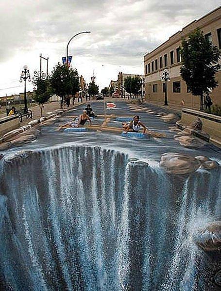 Прикольные 3D рисунки на тротуарах (47 фото)