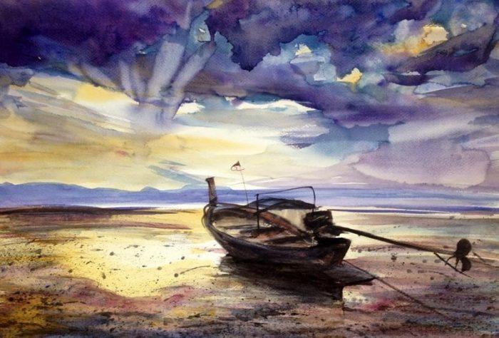 Художник из Таиланда Sukit Sukrakan. Акварели