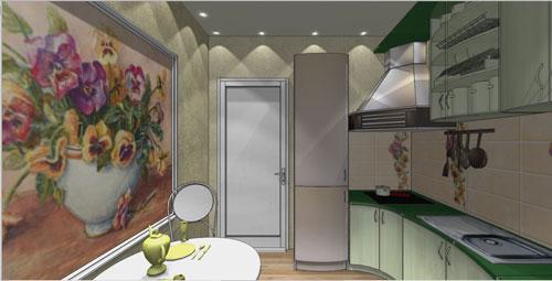 Планировка кухни 10 кв м с балконом..