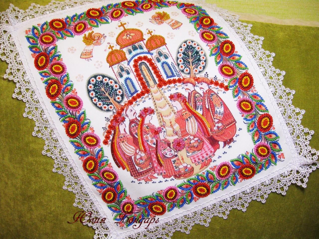 Великолепная вышивка бисером и мулине Юлии Бондарь