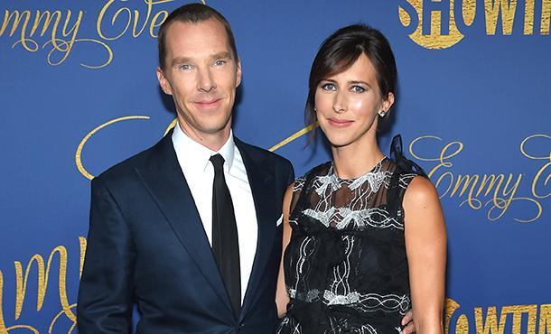 Бенедикт Камбербэтч и беременная Софи Хантер на препати Emmy