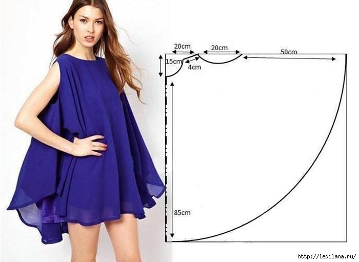 Очень стильное платье, а самое приятное — его очень легко пошить.
