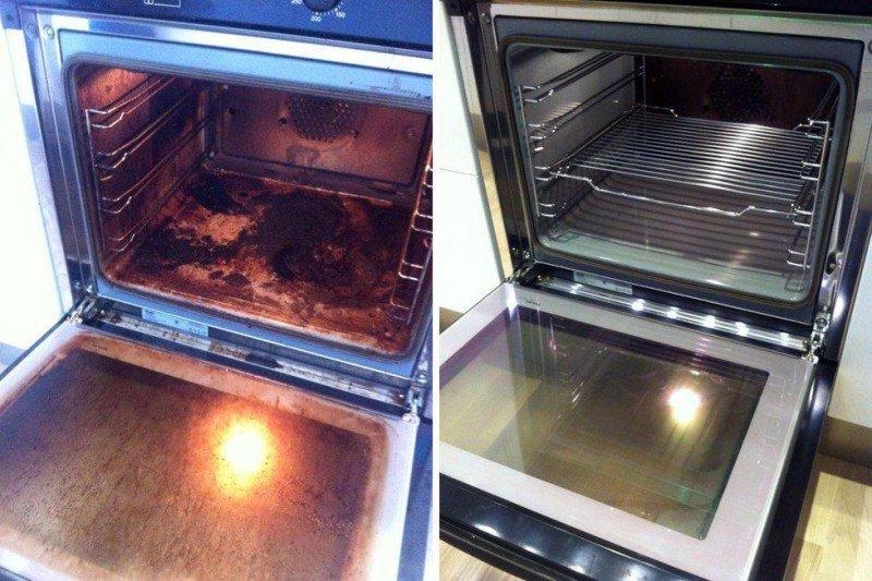 Кто ненавидит чистить духовку полюбит этот прием. Сияющий блеск без лишних усилий