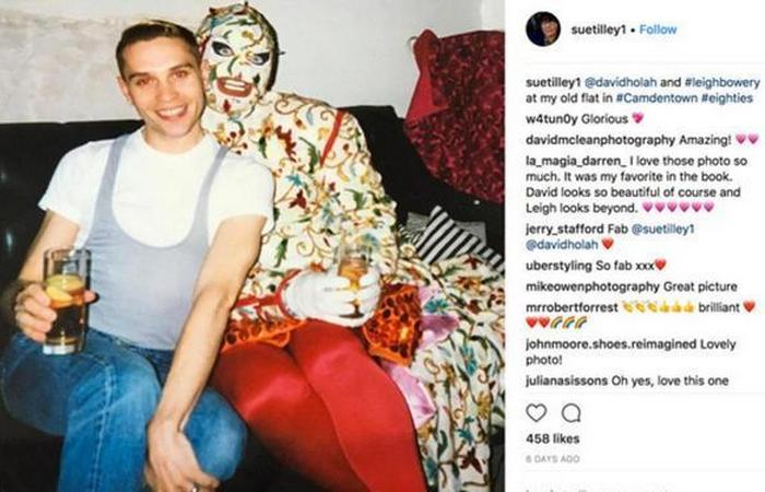 Бауэри также был музой для Люсьена Фрейда. Тилли сфотографировала его (на фото справа) и модельера Дэвида Хола в своей квартире в Камдене.