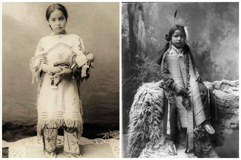 Девочки народа Лакота, 1899 женщины, индейцы, красота, племена, прерии