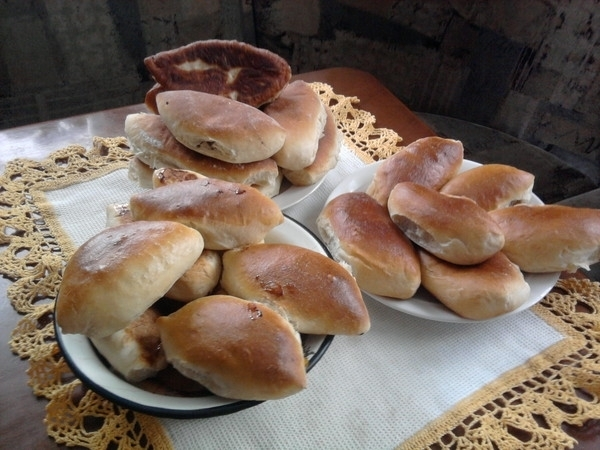 Пуховые пирожки на кефире за…