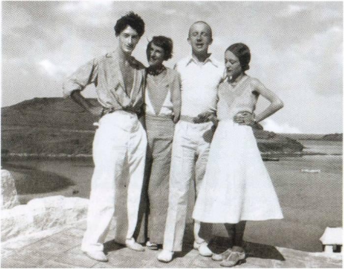Сальвадор Дали, Гала, Поль и Нуш Элюар, 1931 | Фото: dali-genius.ru