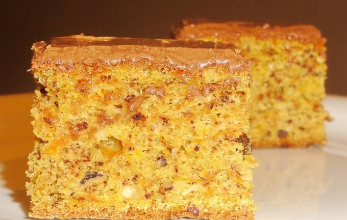 Тыквенно-ореховый пирог в молочном шоколаде