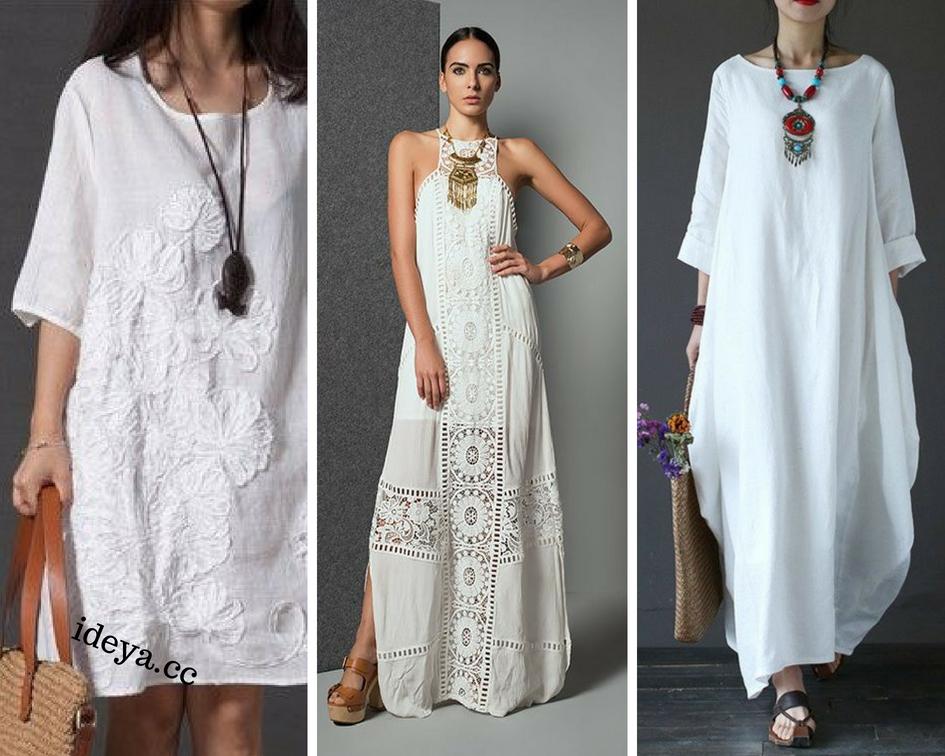 Идеальный вариант для жаркого лета это белая одежда в стиле Бохо