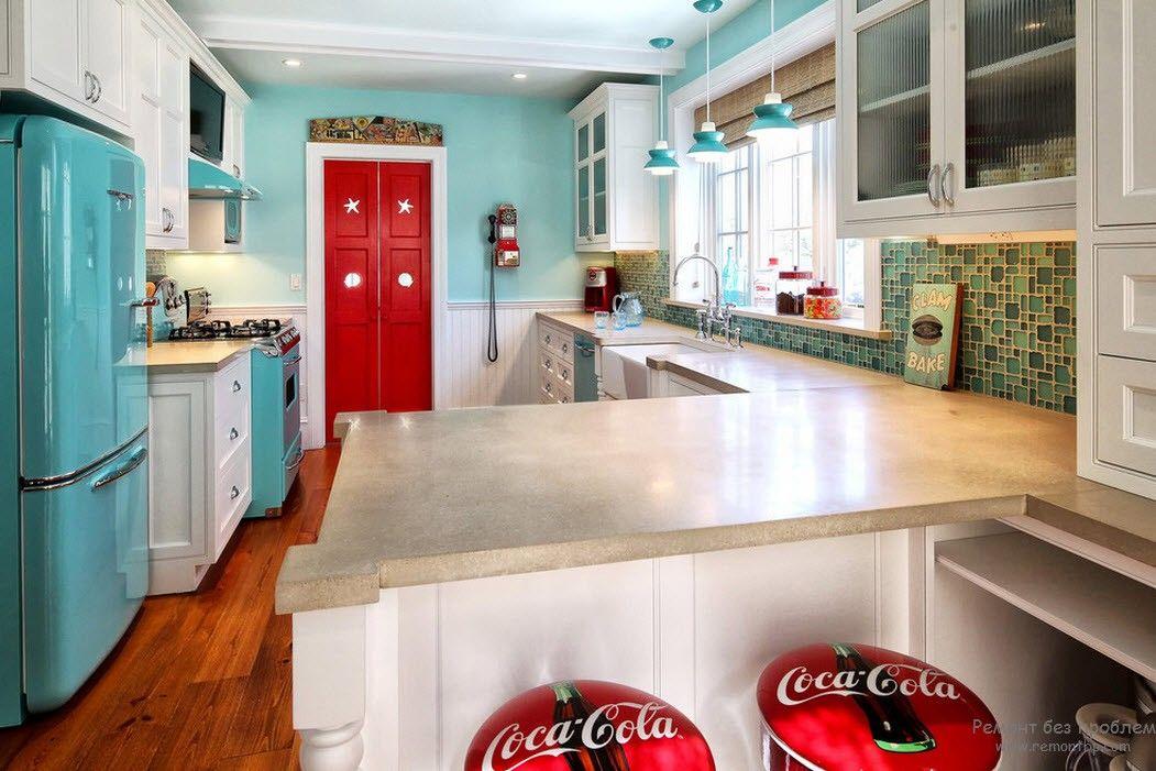 Стиль ретро на кухне