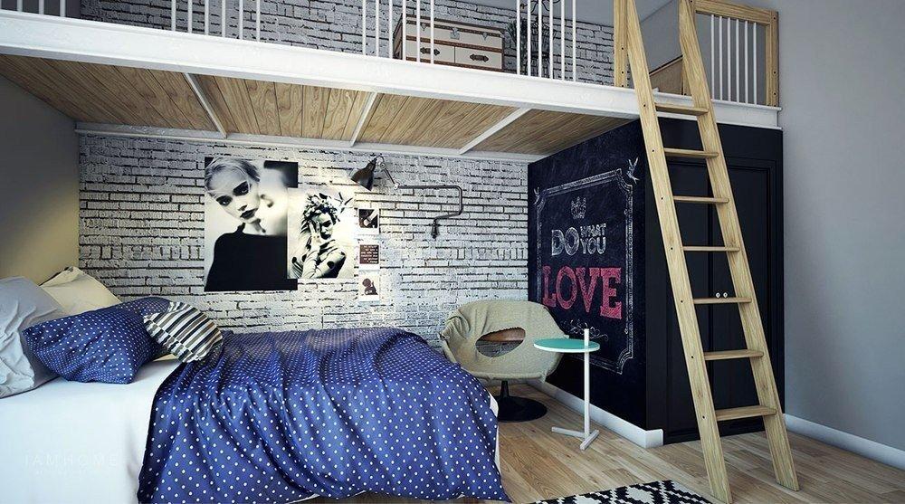 Современная детская комната девочки-подростка от питерской студии дизайна интерьера