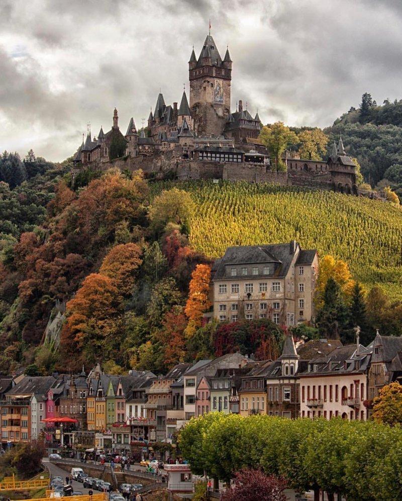 Cochem Castle, Germany красивые места, мир, планета, природа, путешествия
