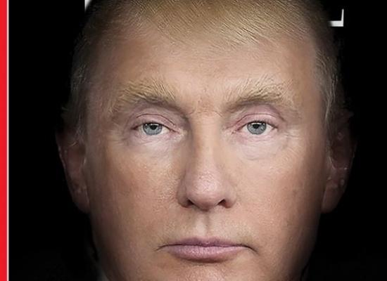 Одно надвоих лицо: Путин иТрамп наобложке Time