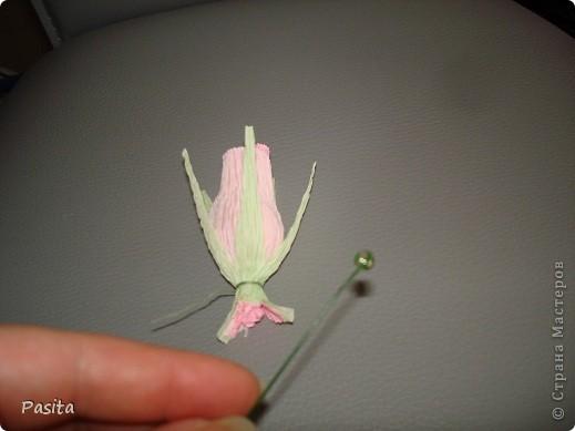 Мастер-класс, Свит-дизайн Моделирование: Бутон розы МК Бумага гофрированная. Фото 18