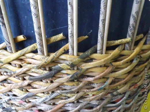 Мастер-класс Поделка изделие Плетение Корзины для овощей - Бумага газетная Трубочки бумажные фото 23