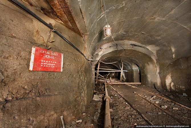 Заброшенная железнорудная шахта
