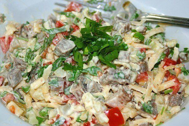 Салаты рецепты с простые и вкусные из мяса птицы