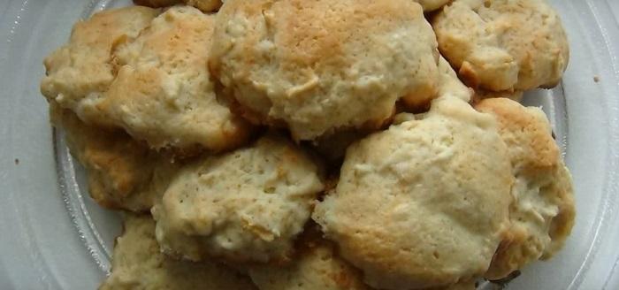 яблочное печенье с овсянкой