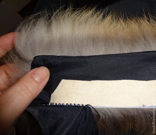 Основной шов скорняка для шитья меха