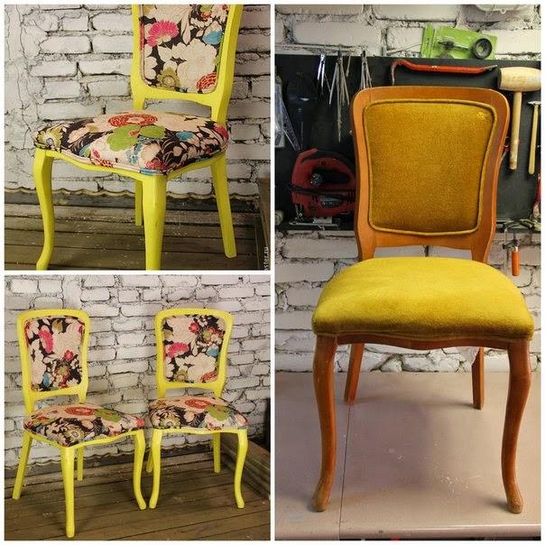 Меняем обивку и красим стулья
