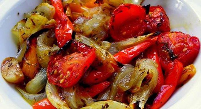 Овощи, запечённые в маринаде…