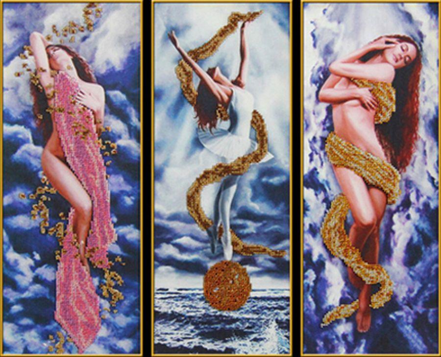 Триптих — вышивка модульных картин бисером