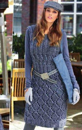 Платье с рельефными узорами