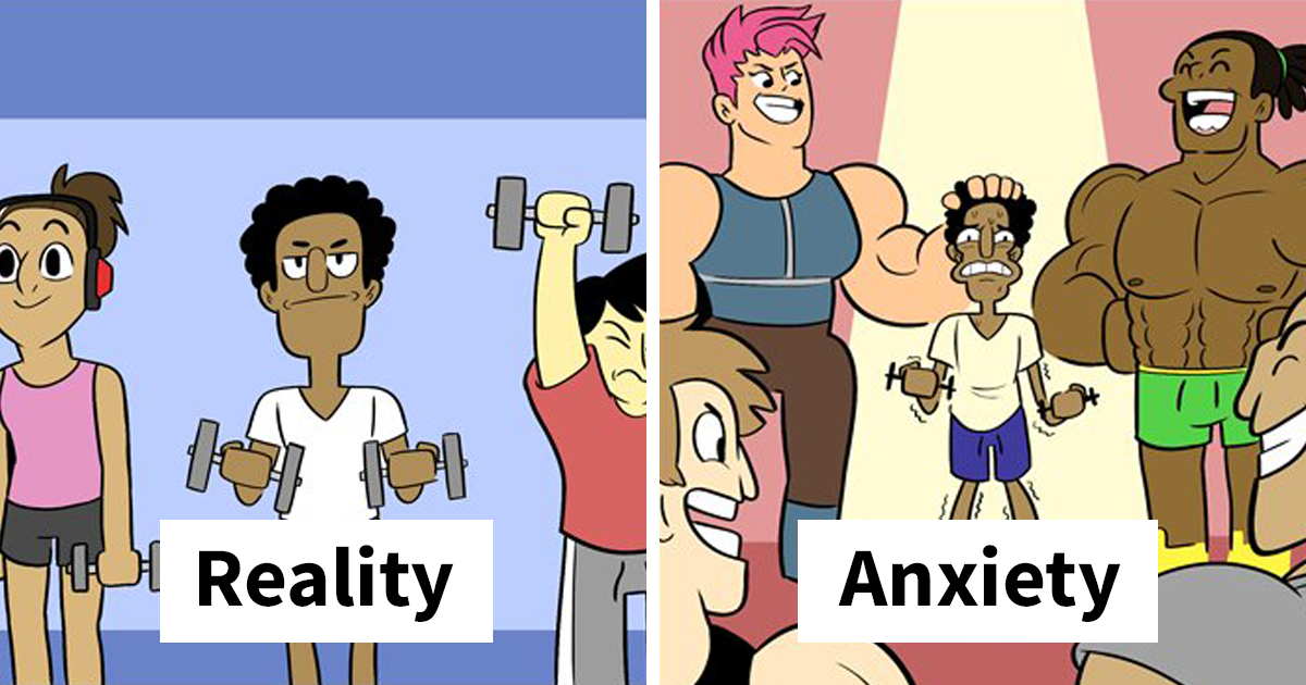 Anxiety Vs. Reality Comics That Will Make You Question The World Around You