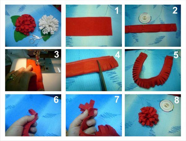 Банты своими руками из ткани 19