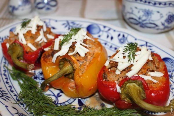 Перец половинки фаршированный рецепт пошагово