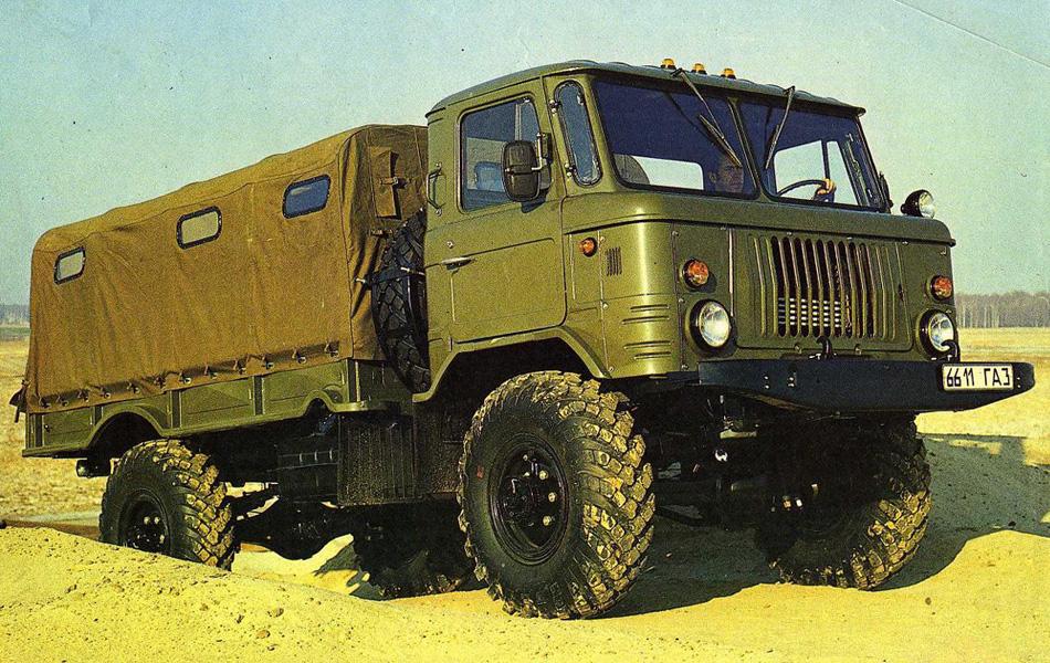 pДо 90-х годов ГАЗ-66 обширно использовался и входил в состав регулярных боевых частей, в том числе и в Афганистане. Из-за опасного в случае подрыва на мине расположения водителя и пассажиров прямо над двигателем, грузовик был постепенно снят использования./p