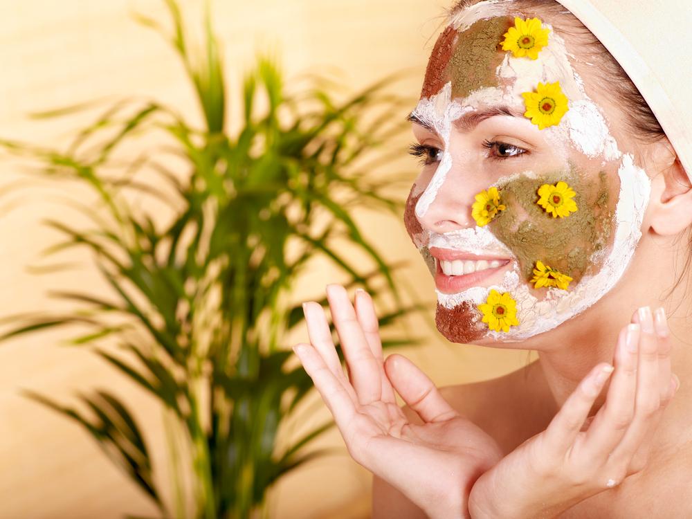 Натуральная отшелушивающая  маска для лица