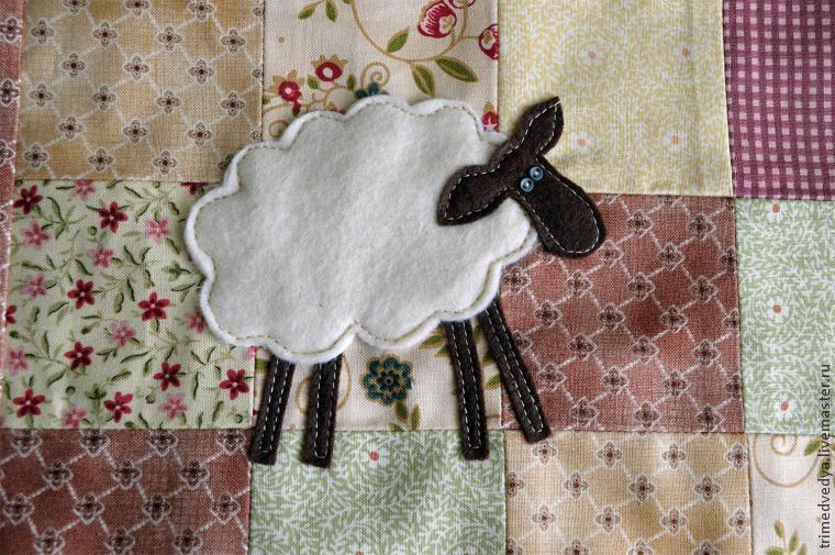 Шьём наволочку с овечкой