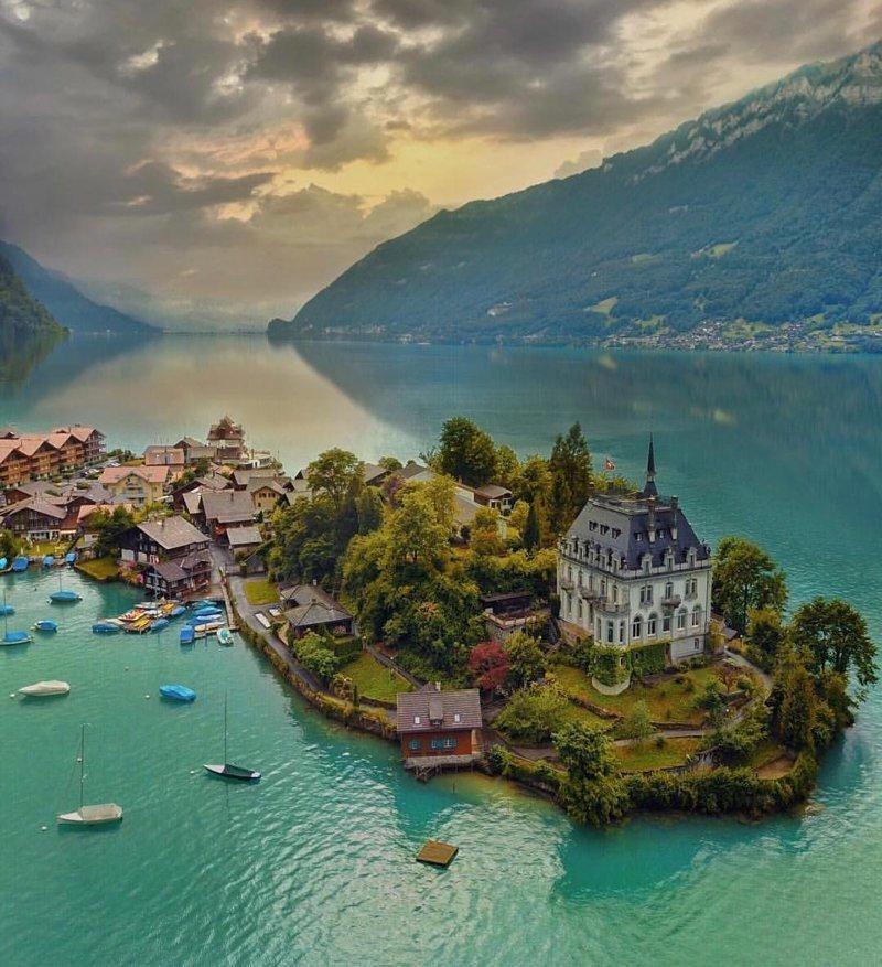 Iseltwald, Switzerland красивые места, мир, планета, природа, путешествия