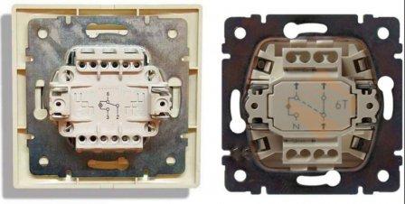 Как подключать проходные и перекрестные выключатели - схема + видео